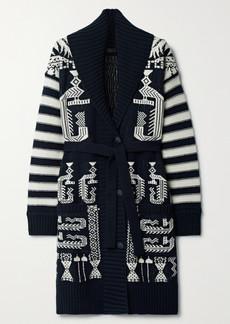 Etro Wool And Cotton-blend Jacquard Cardigan