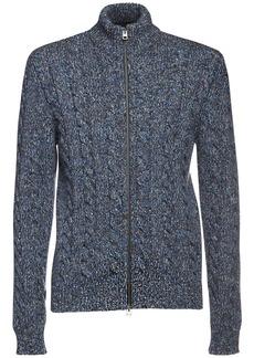 Etro Wool Blend Turtleneck Zip Sweater