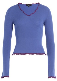 Etro Wool Top with Ruffled Trim