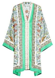 Etro Woven Print Dress with Silk
