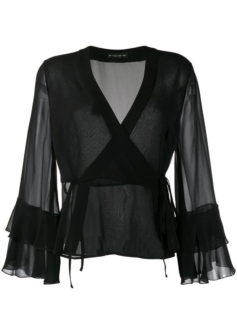 Etro wrap style front blouse