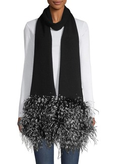 Eugenia Kim Candy Cashmere & Feather Fringe Scarf