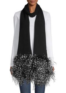 Eugenia Kim Candy Cashmere & Feather Fringe Scarf