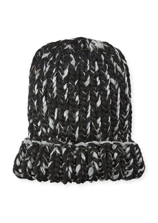 Eugenia Kim Elaine Two-Tone Metallic Knit Hat