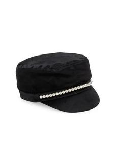 Eugenia Kim Elyse Black Velvet Cap
