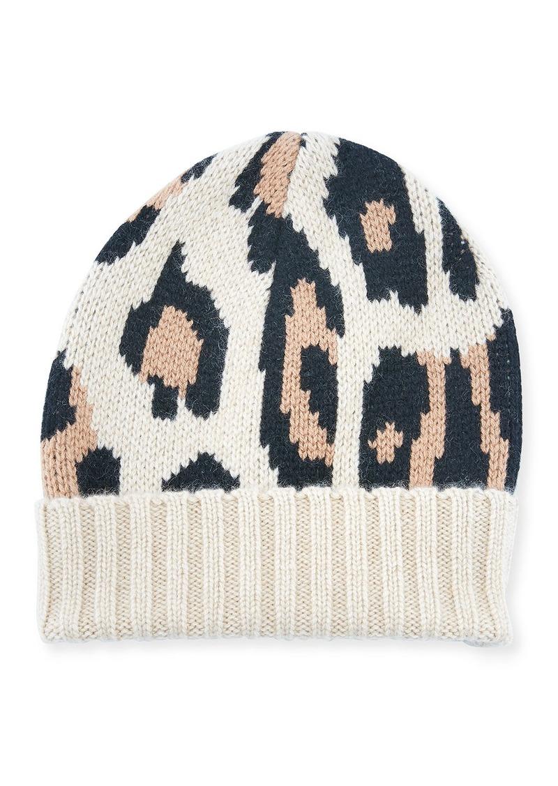 Eugenia Kim Alexis Animal Pattern Cashmere Beanie Hat