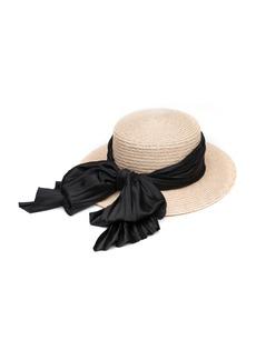 Eugenia Kim Brigitte Boater Hat w/ Satin Bow