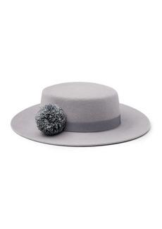 Eugenia Kim Brigitte Wool Felt Boater Hat
