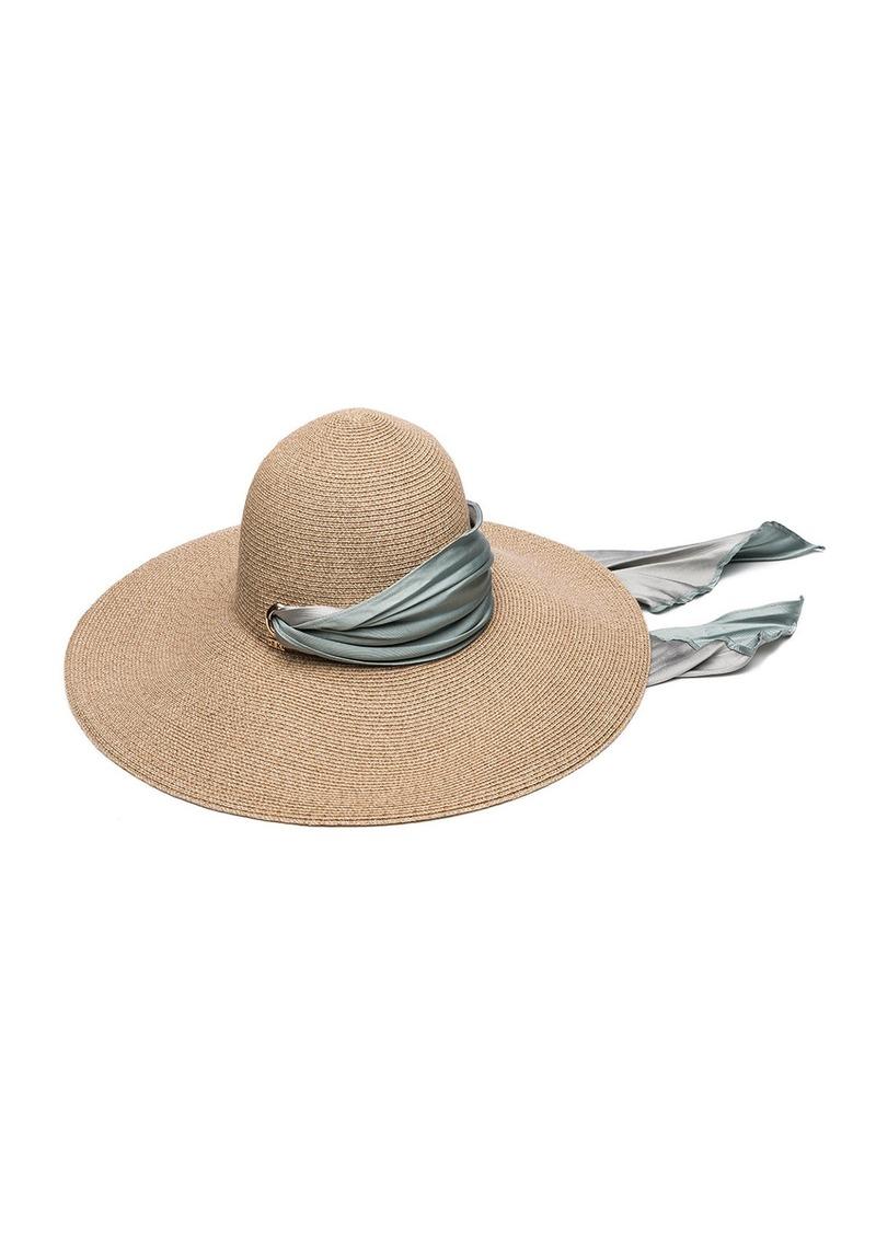 d138b602ee8ad Eugenia Kim Eugenia Kim Bunny Hemp-Blend Sun Hat with Satin Band ...