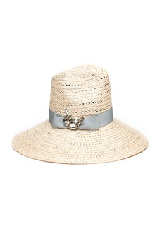 Eugenia Kim Carmen Sun Hat w/ Hat Band & Brooch