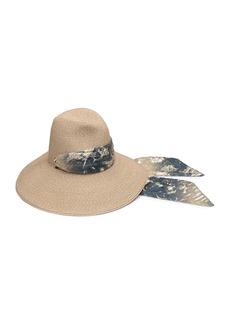 Eugenia Kim Cassidy Hemp-Blend Sun Hat w/ Metallic Scarf