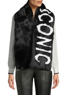 Eugenia Kim Colden Iconic Two-Tone Fur Scarf