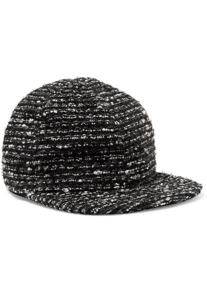 42d017be66f Eugenia Kim Darien metallic cotton-blend tweed baseball cap