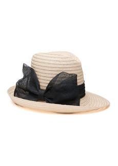 Eugenia Kim Dita Hemp Fedora Hat w/ Sinamay Bow