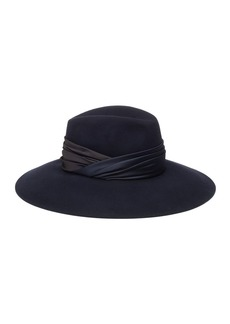 Eugenia Kim Emmanuelle Wool Fedora Hat w/ Ruched Hat Band