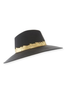 Eugenia Kim Emmanuelle Wool Fedora Hat with Metallic Band
