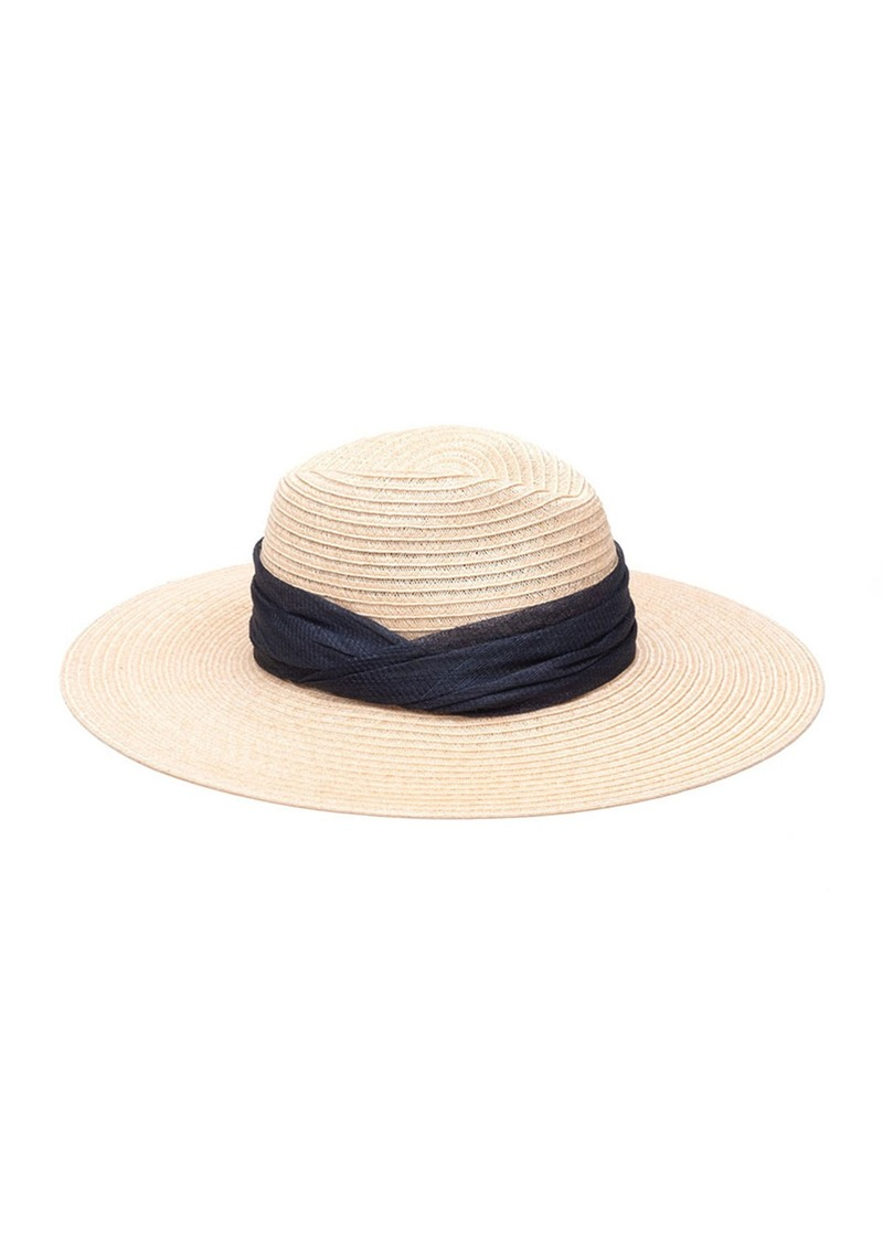 Eugenia Kim Emmanuelle Woven Sinamay Fedora Hat