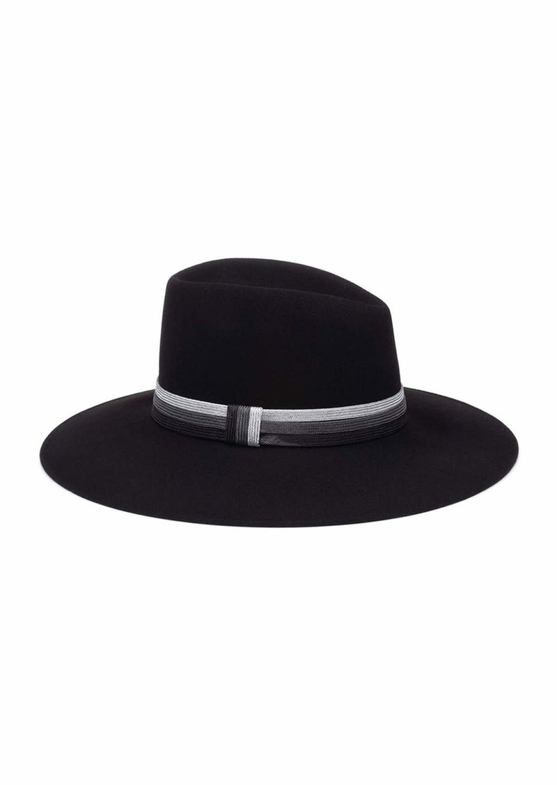 Eugenia Kim Harlowe Wool Panama Hat w/ Colorblock Band