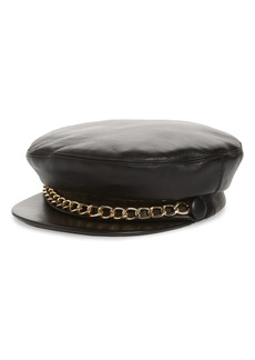 Eugenia Kim Marina Leather Baker Boy Cap