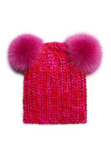 4a3c4b1ddd4 Eugenia Kim Mimi Double Fox Fur Pom-Pom Beanie