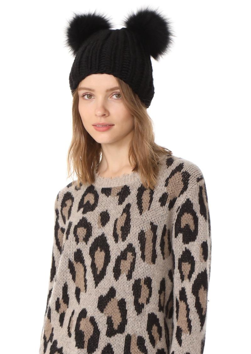 Eugenia Kim Eugenia Kim Mimi Pom Pom Fur Beanie Hat 945f6896886