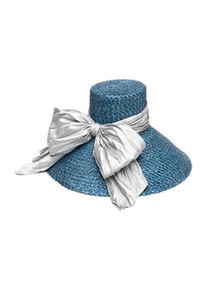 Eugenia Kim Mirabel Straw Sun Hat w/ Large Satin Bow