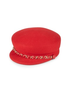 Eugenia Kim Sabrina Wool Chain Newsboy Cap