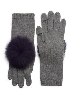 Eugenia Kim Sloane Pom-Pom Fox Fur & Cashmere Gloves