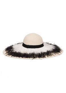 Eugenia Kim Sunny Ostrich Feather Fringe Sun Hat