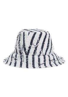 Eugenia Kim Toby Stripe Tweed Bucket Hat