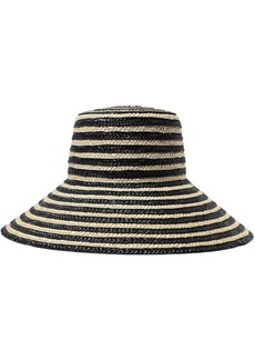 Eugenia Kim Woman Annabelle Striped Straw Hat Black