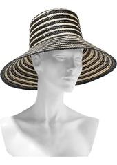 Eugenia Kim Woman Annabelle Striped Straw Hat Black