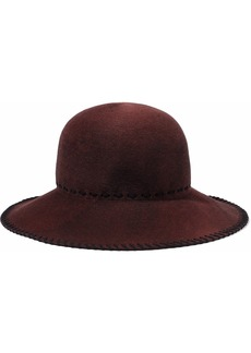 Eugenia Kim Woman Blake Whipstitched Wool-felt Hat Burgundy