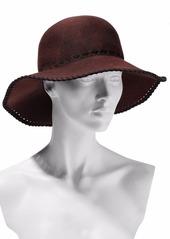 Eugenia Kim Woman Blake Whipstitched Wool-felt Hat Burgundy