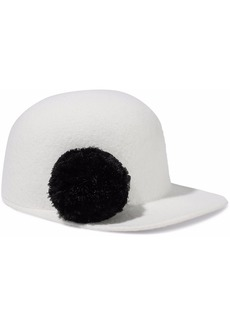 Eugenia Kim Woman Bo Pompom-embellished Wool-felt Baseball Cap Off-white