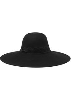 Eugenia Kim Woman Bunny Lace-trimmed Wool-felt Hat Black