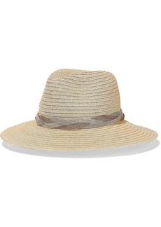 Eugenia Kim Woman Chain-trimmed Hemp-blend Panama Hat Beige