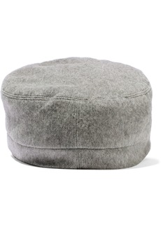 Eugenia Kim Woman Elyse Calf Hair-trimmed Cashmere-felt Cap Gray