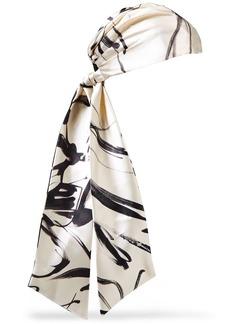 Eugenia Kim Woman Gigi Printed Satin-twill Headscarf Ecru