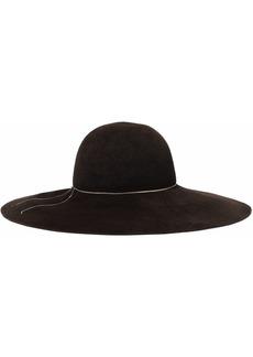 Eugenia Kim Woman Honey Chain-trimmed Rabbit-felt Hat Dark Brown