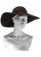 Eugenia Kim Woman Honey Chain-trimmed Rabbit-felt Hat Dark Brown