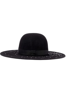 Eugenia Kim Woman Honey Faux Pearl-embellished Wool-felt Hat Black