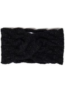Eugenia Kim Woman Lula Twisted Metallic Cable-knit Headband Black