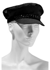 Eugenia Kim Woman Marina Chain-trimmed Satin Cap Black