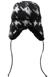 Eugenia Kim Woman Sammy Houndstooth Knitted Trapper Hat Black