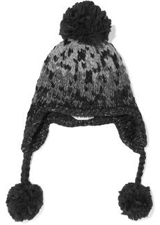 Eugenia Kim Woman Skye Pompom-embellished Metallic Wool-blend Jacquard Trapper Hat Anthracite