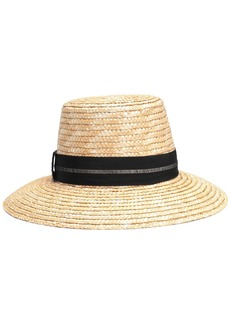 Eugenia Kim Woman Stevie Grosgrain-trimmed Woven Straw Hat Sand
