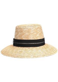 Eugenia Kim Woman Stevie Grosgrain-trimmed Woven Straw Hat Sand