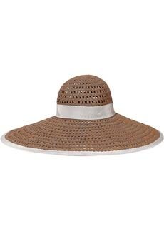 Eugenia Kim Woman Sunny Grosgrain-trimmed Woven Sun Hat Camel