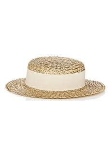Eugenia Kim Women's Brigitte Straw Boater Hat - Gold
